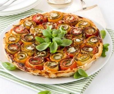 tatin di verdure – peperoni e zucchine – ricetta passo passo con foto