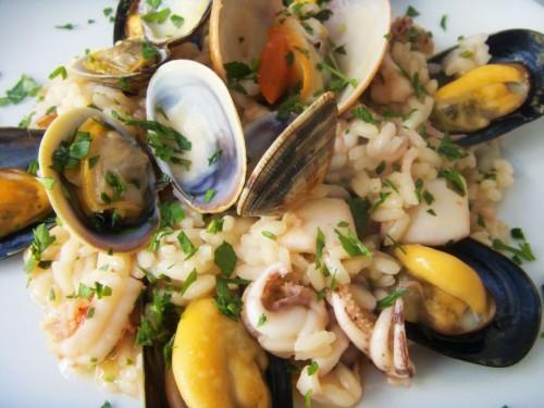risotto, cucina, ricette, ricetta, fruti di mare, cozze, primi piatti, risotti,