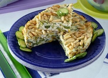torta di ricotta,cucina,dolci,ricette,ricetta,torte salate,pinoli,ricotta,zucchine