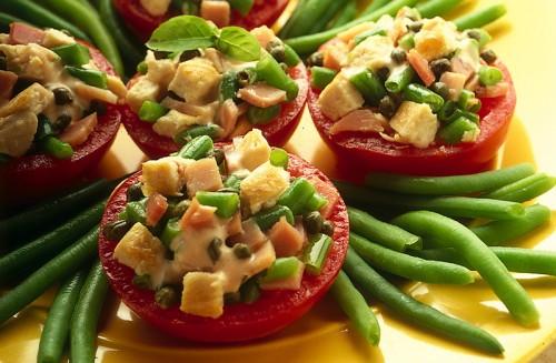 cucina, ricette, ricetta, pomodori, pomodori ripieni, secondi, contorni, fagiolini