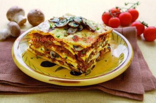 cucina,lasagne,ricette,ricetta,primi piatti,funghi,pasta fresca,food