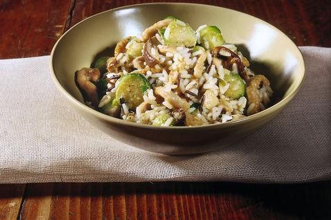 cavolini di Bruxelles, cucina, ricette, ricetta, risotto, riso, funghi, funghi porcini, primi piatti,