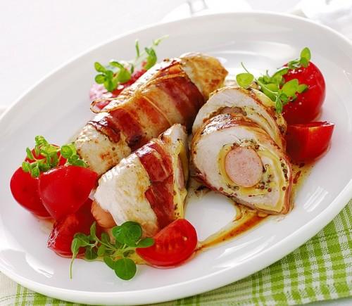 cucina, ricette, ricetta, pollo, secondi, involtini di pollo, senape,