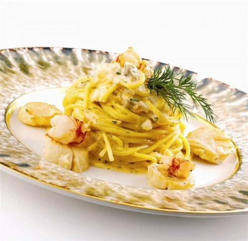 carbonara, spaghetti alla carbonara, carbonara di mare, cucina, ricette, pesce,