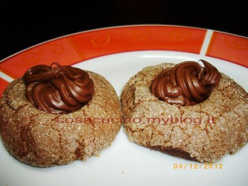 cucina,ricette,nutella,cacao,biscotti,biscotti al cacao,biscotti con nutella,dolci con nutella