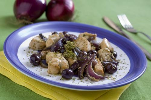 cucina, ricette, ricetta, pollo, bocconcini di pollo, cipolle, cipolle rosse, secondi, contorni,