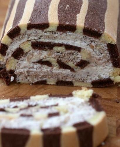 cucina, ricette, Rotolo Tris Ciocco-Mascarpone-Panna, cioccolato,