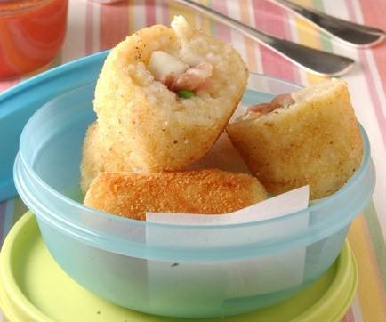 La ricetta delle Crocchette di riso e piselli