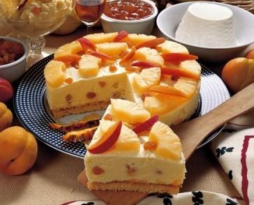 gelato,dolci,cuicna,ricette,ricetta,ricotta,torte,pan di spagna,uvetta,food,ananas,ricette di dolci