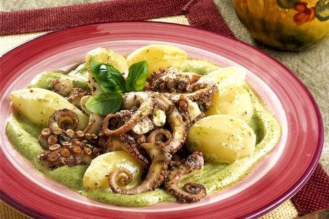 Insalata di polpo e patate, cucina, ricette, ricetta, insalate, polpo, patate, secondi,