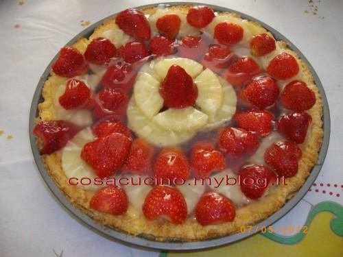 crostata, cucina, ricette, ricetta, dolci, crostate, torte, ananas, fragole,