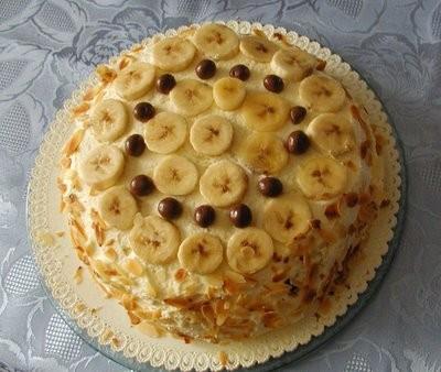 Il dolce della Domenica - Torta soffice con crema e banane