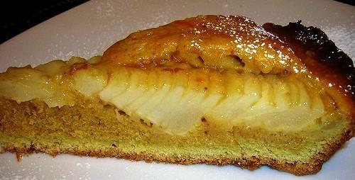 crostata lucida di pere