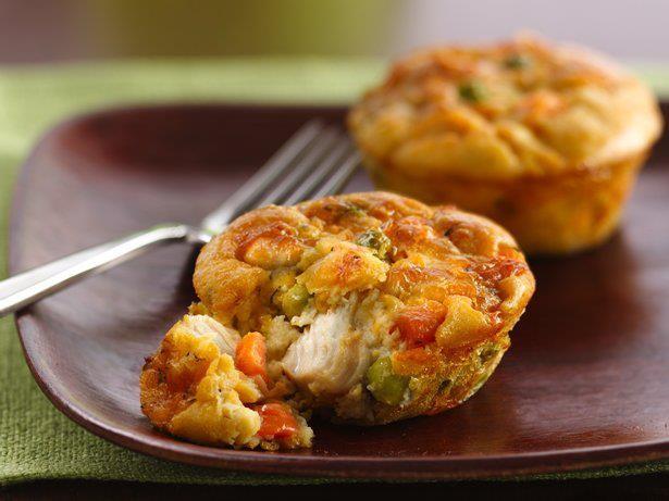 Muffin con verdurine e pollo