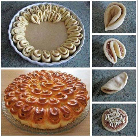 Pizza torta di rose