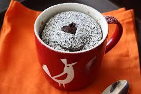 Mug cake con cuore morbido