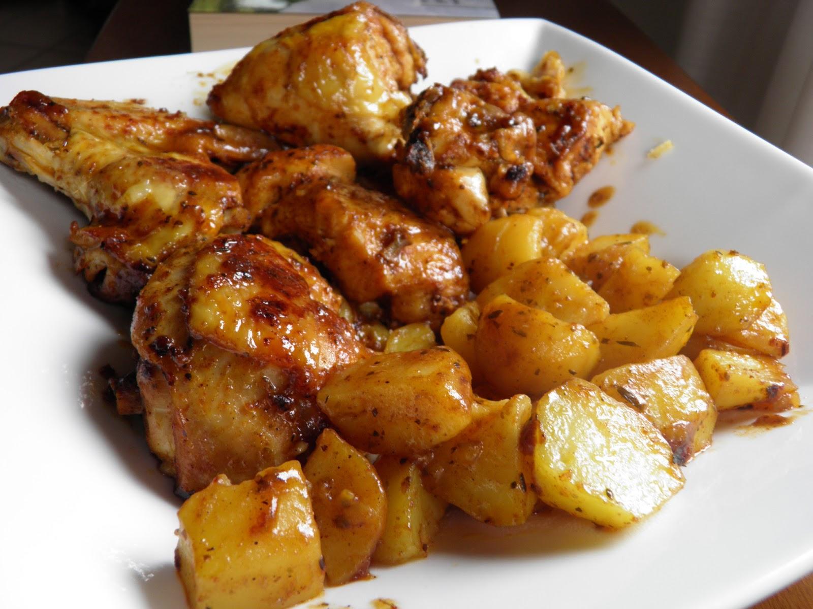 Pollo con paprika e patate