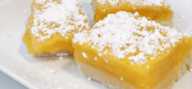 Lemon bars - barrette al limone