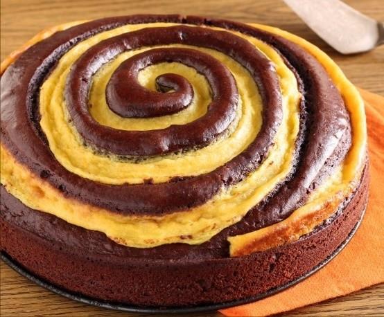 torta girella al cioccolato