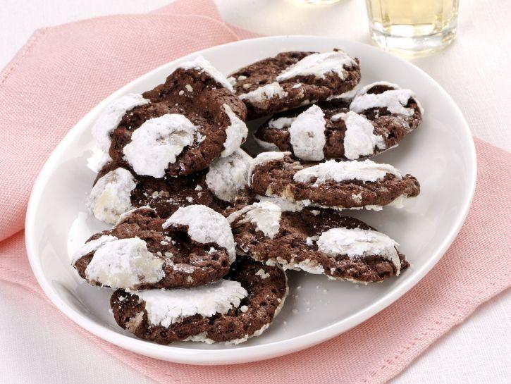 """Biscotti """"craquelé"""" al cioccolato"""
