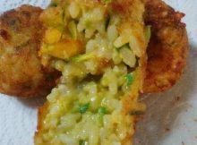 Crocchette di riso zucchine e gamberetti