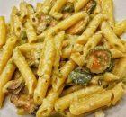 Pennette zucchine, speck e parmigiano